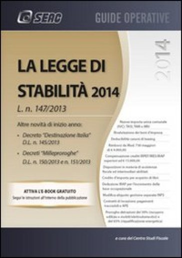 Legge di stabilità 2014 - Centro studi fiscali | Thecosgala.com