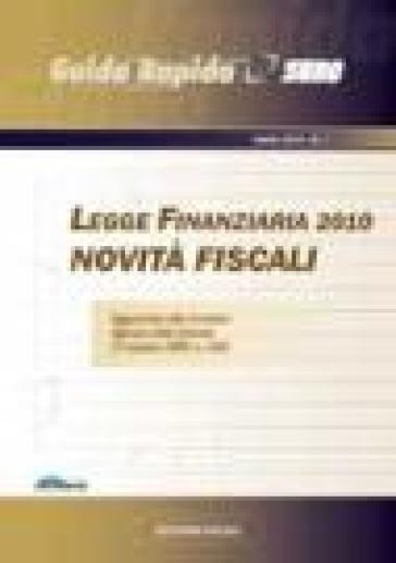 Legge finanziaria 2010. Novità fiscali