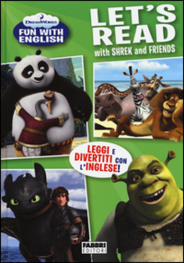 Let's read with Shrek and friends. Dreamworks fun with English