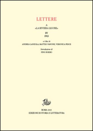 Lettere a «La Riviera Ligure». 4.1913 - A. Lanzolla   Kritjur.org