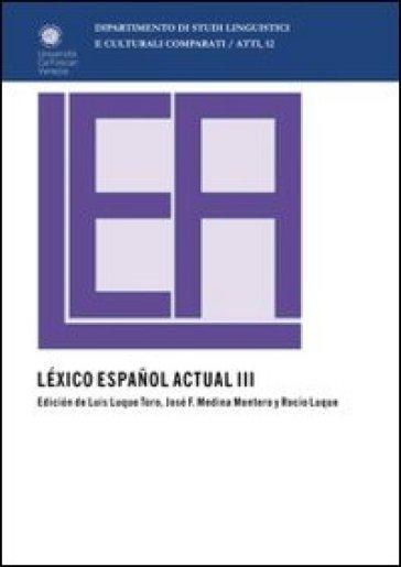 Léxico espanol actual. 2. - J. F. Medina  