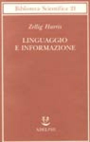 Linguaggio e informazione - Zellig Harris  