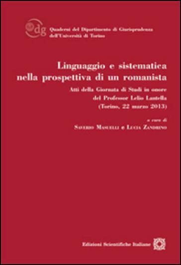 Linguaggio e sistematica nella prospettiva di un romanista - S. Masueli | Ericsfund.org