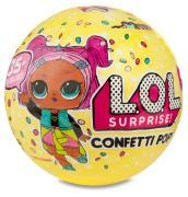 Llu10000 LOL Surprise Confetti Pop con Mini Doll a Sorpresa, 9 Livelli, Modelli Assortiti