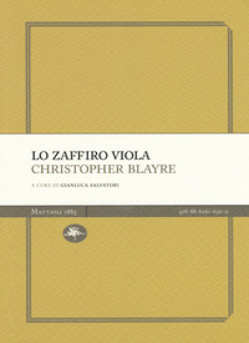 Lo zaffiro viola - Christopher Blayre | Kritjur.org