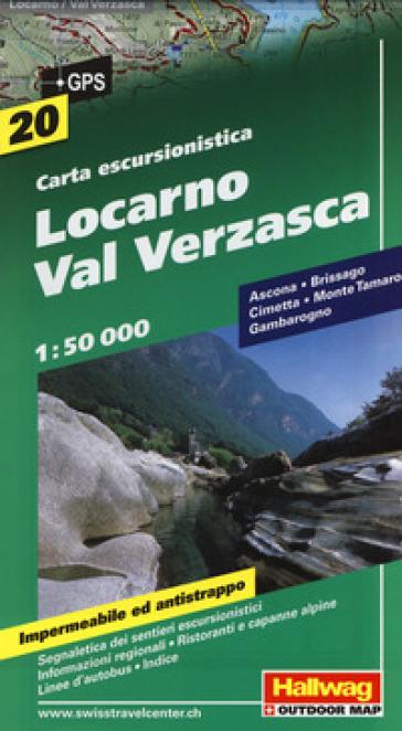 Locarno, Val Verzasca 1:50.000. Carta escursionistica