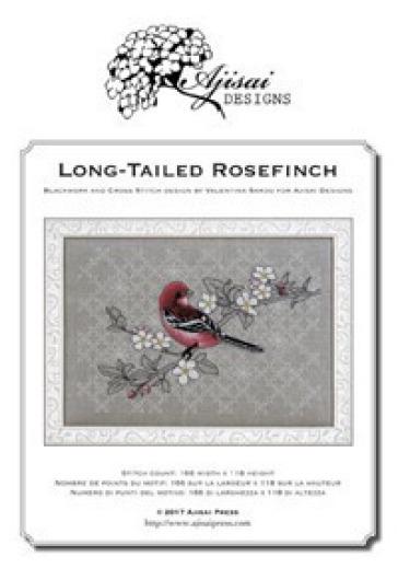 Long-tailed Rosefinch. Cross stitch and blackwork design. Ediz. italiana, inglese e francese - Valentina Sardu |