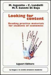 Looking for content. Reading practice materials for students of economics