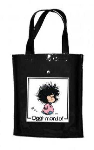 082b012809 Mafalda Oggi Mordo Shopper Nera In Pvc Libro Mondadori Store