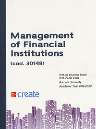 Management of financial institutions - Brunella Bruno |