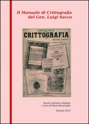Manuale di crittografia - Luigi Sacco   Ericsfund.org