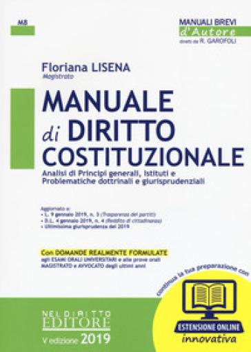 Manuale di diritto costituzionale. Con espansione online - Floriana Lisena pdf epub
