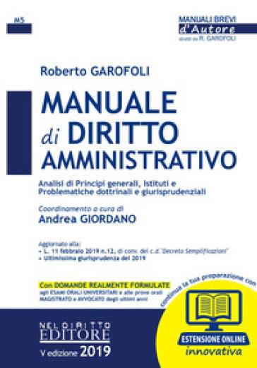 Manuale di diritto amministrativo. Con espansione online - Roberto Garofoli |