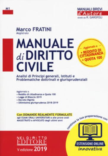 Manuale di diritto civile. Con aggiornamento online - Marco Fratini |