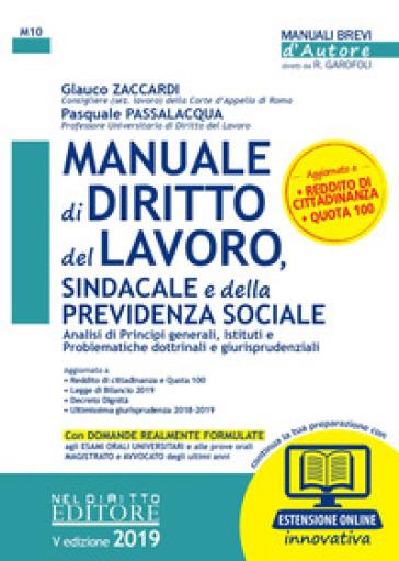 Manuale di diritto del lavoro, sindacale e della previdenza sociale. Con espansione online - Glauco Zaccardi | Thecosgala.com