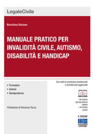 Manuale pratico per invalidità civile, autismo, disabilità e handicap. Con CD-ROM - Rocchina Staiano | Ericsfund.org