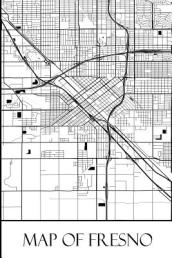 Map of Fresno