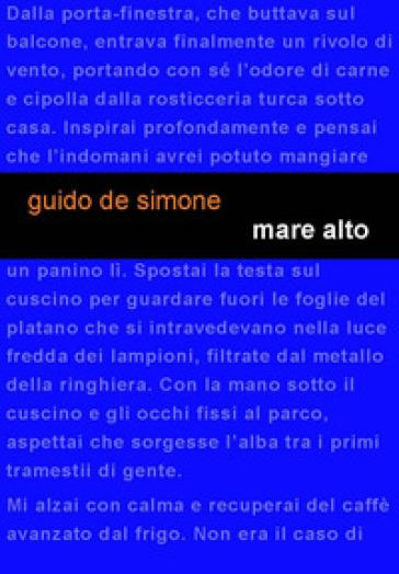 Mare alto - Guido De Simone |