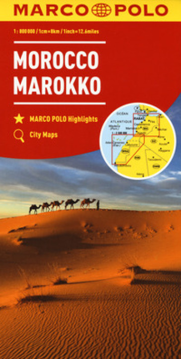 Marocco 1:800.000. Ediz. multilingue