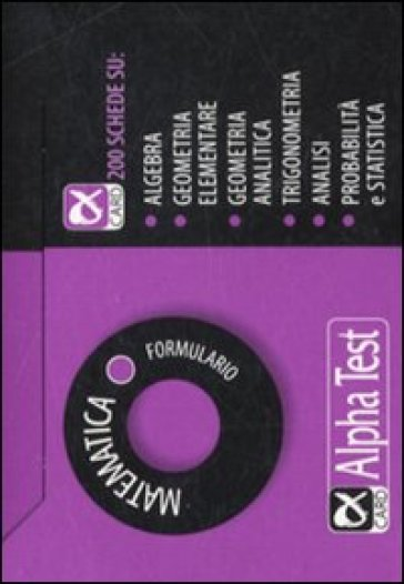 Matematica. Formulario - Silvia Tagliaferri |