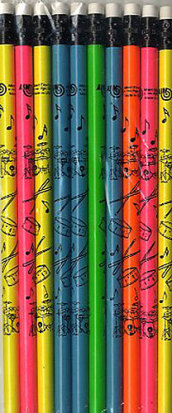 Matita Percussioni Colori al neon - Confezione da 10