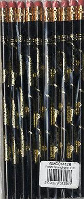 Matita Sassofono Oro e Nero - Confezione da 10