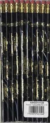 Matita Tromba Oro e Nero - Confezione da 10