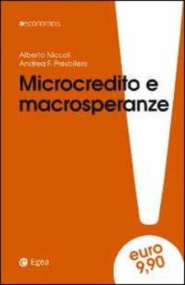 Microcredito e macrosperanze