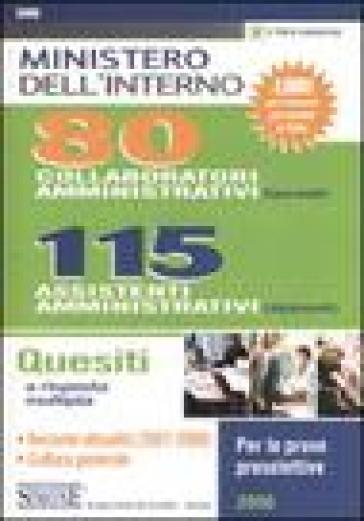 Ministero Dell 39 Interno 80 Collaboratori Amministrativi