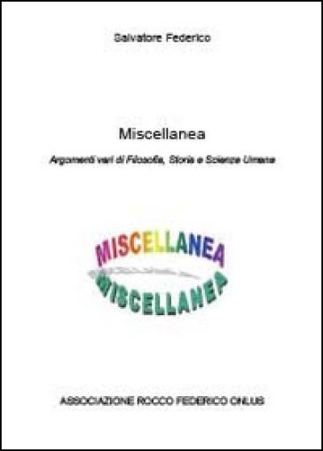 Miscellanea - Federico Salvatore |
