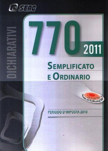 Modello 770/2011 semplificato e ordinario