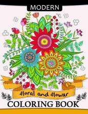 Modern Floral and Flower Coloring Book