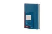 Moleskine 12M Daily Large Steel Blue Hard Cover