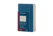 Moleskine 12M Daily Pocket Steel Blue Hard Cover