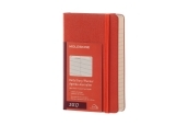 Moleskine 12M Daily Pocket Coral Orange Hard Cover