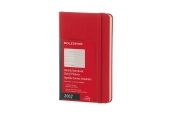 Moleskine 12M Planner Weekly Notebook Pocket Scarlet Red Hard Cover