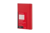 Moleskine 12M Planner Weekly Notebook Large Scarlet Red Hard Cover