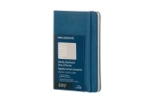 Moleskine 12M Weekly Notebook Pocket Steel Blue Hard Cover