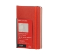 Moleskine 12M Weekly Notebook Pocket Coral Orange Hard Cover