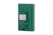 Moleskine 12M Weekly Notebook Pocket Malachite Green Hard Cover