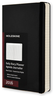Moleskine 2016 12M Planner daily pocket hard Black