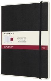 Moleskine Papertablet P+ a righe - Extralarge - Nero