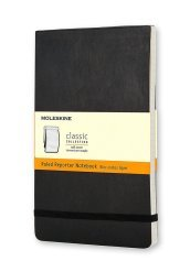 Moleskine Reporter Pocket Ruled Black Soft Cover