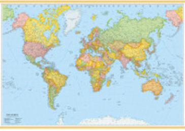 Immagini Cartina Geografica.Mondo 100x140 Carta Geografica Amministrativa Carta Murale Plastificata Libro Mondadori Store