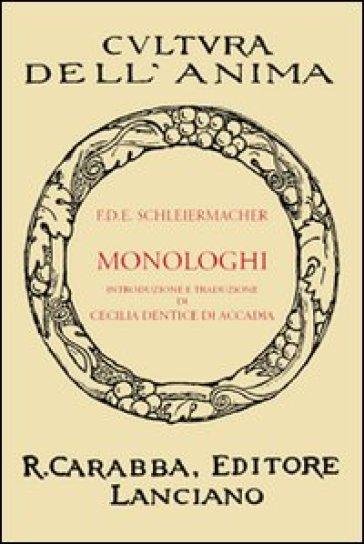 Monologhi - Friedrich D. Schleiermacher  