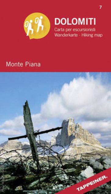 Monte Piana. Dolomiti. Carta per escursionisti. Ediz. italiana e tedesca