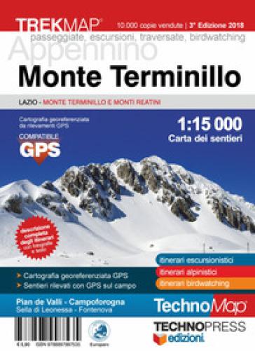 Monte Terminillo. Carta dei sentieri