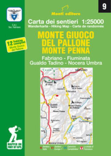 Monte giuco del Pallone, Monte Penna. Fabriano, Fiuminata, Gualdo Tadino, Nocera Umbra - Raffaele Monti |