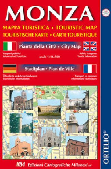 Monza. Mappa turistica. Pianta della città 1:16.500. Ediz. italiana, inglese, tedesca e francese