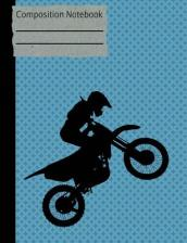 Motocross Composition Notebook - Wide Ruled